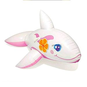 H20 Go Pink Whale Rideable inflatable Float NIB